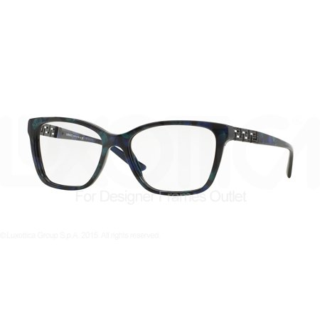 55078339ec62 VERSACE Eyeglasses VE 3192B 5127 Marbled Black Green Blue 54MM - Walmart.com