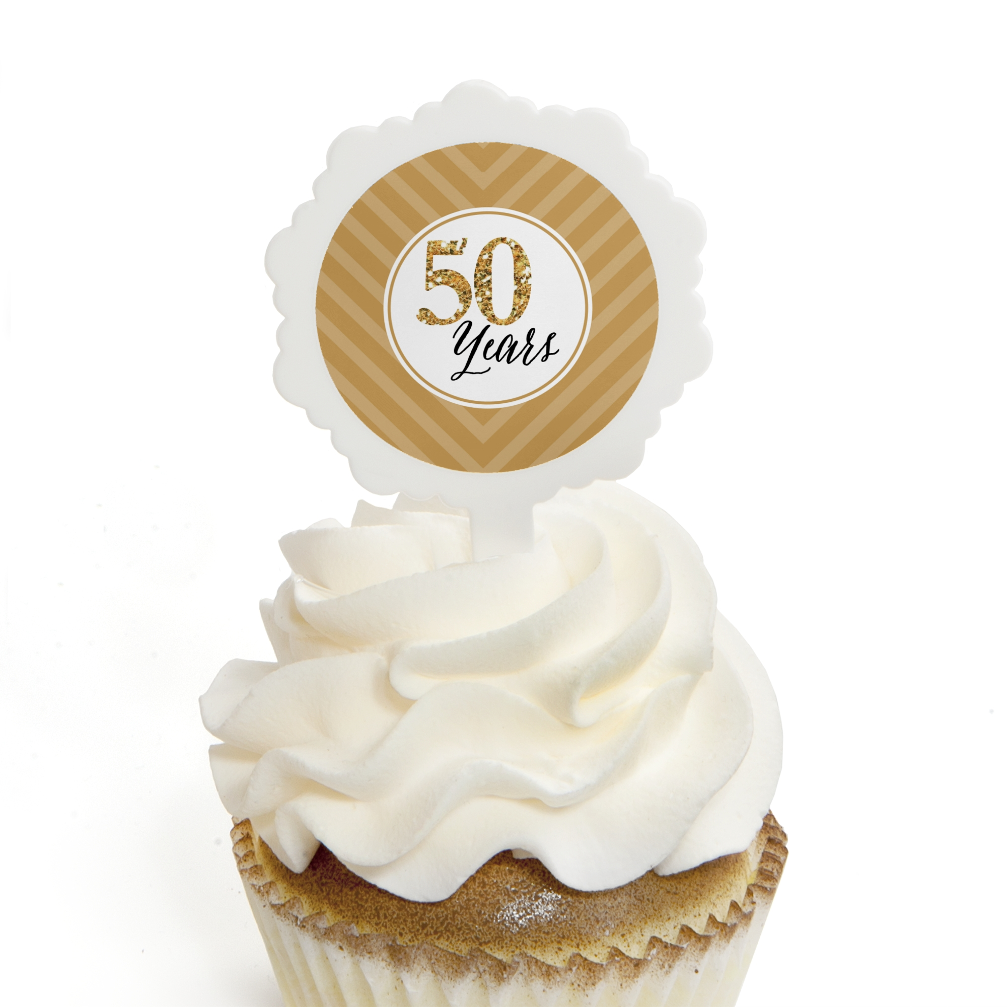 We Still Do - 50th Wedding Anniversary - Cupcake Picks with Stickers - Party Cupcake Toppers - 12 Count