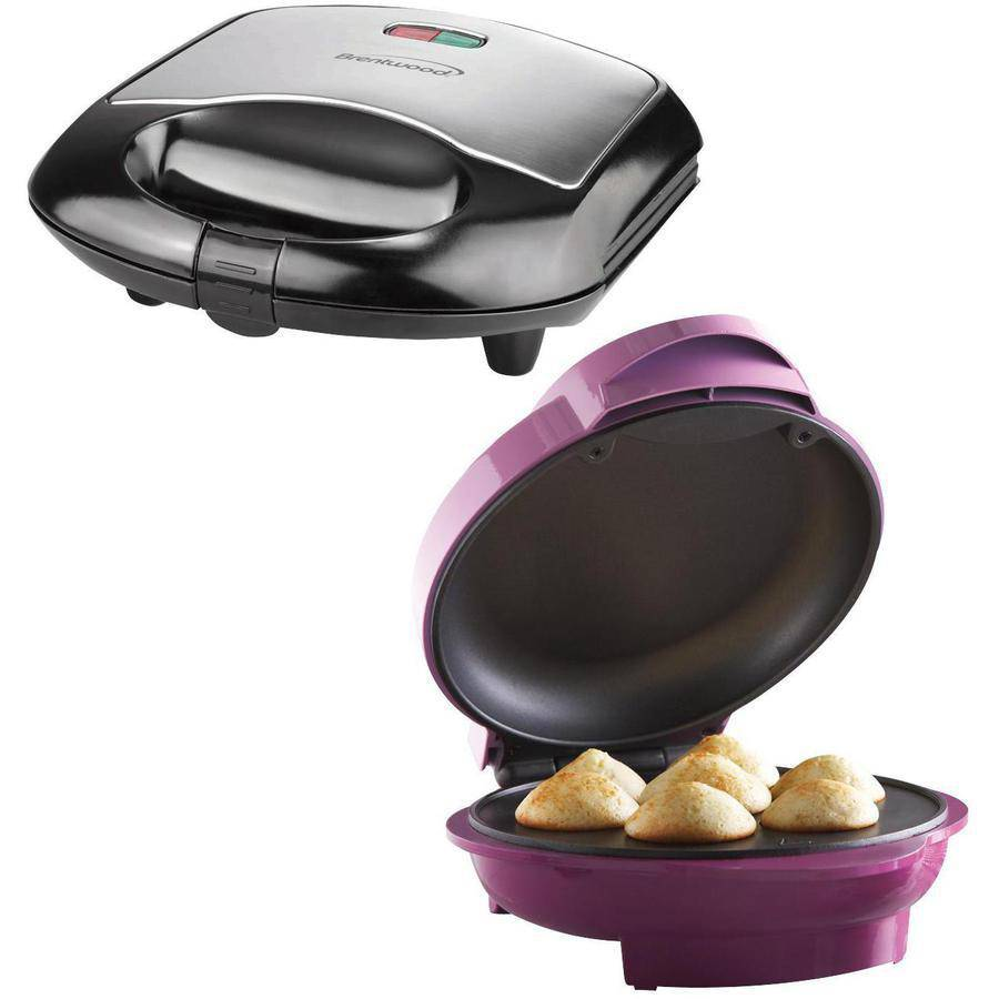 Brentwood TS-252 Mini Cupcake Maker and Brentwood TS-240B Sandwich Maker