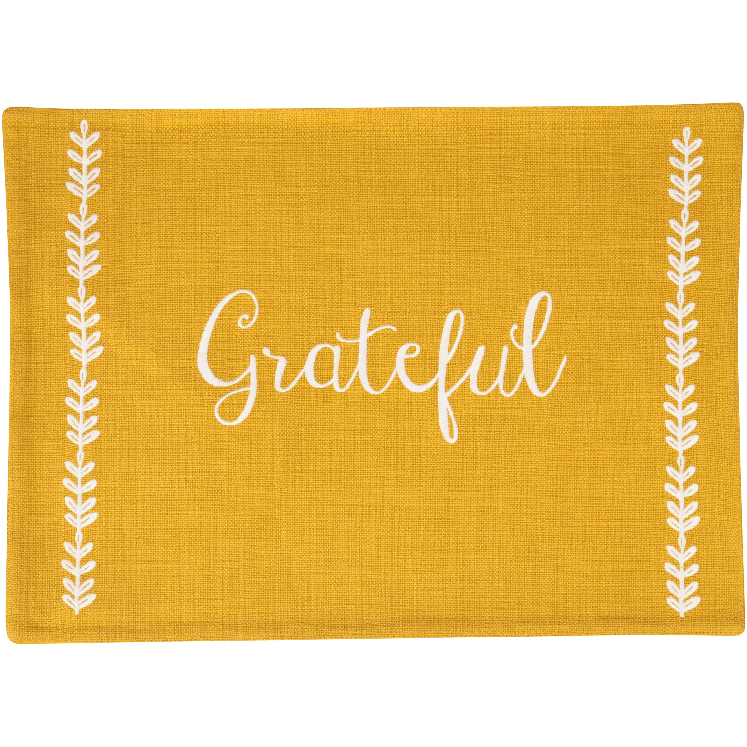 "Mainstays Holiday Grateful Gold Embroidered Placemats, 14"" x 19\ by Wal-Mart Stores, Inc."