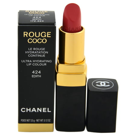 Rouge Coco Shine Hydrating Sheer Lipshine - # 424 Edith by Chanel for Women - 0.11 oz Lipstick (Limi