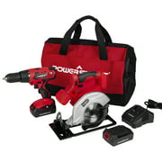 PowerSmart PS76200C 20V Cordless Drill / Circular Saw Combo Kit (2-Tool) with (2) Batteries 1.5Ah and Charger