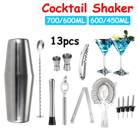 Shaker Barware Supplies 13pcs Stainless Steel Boston Cocktail Shaker Set Bartender Kit Professional Bartender Drink