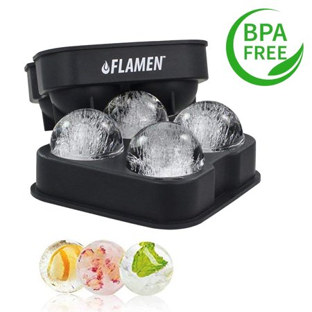 Ice Ball Maker Tray/Molds - Round Ice Ball Spheres Great for Parties Whiskey and all Cold Beverages Premium Bar Accecsory - Kitchen Dreams ()