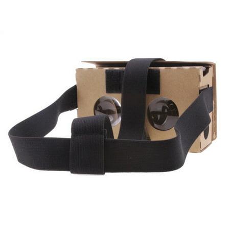 2017 New New Brown Cardboard 3D Vr Virtual Reality Glasses High Quality Toy Fun Diy