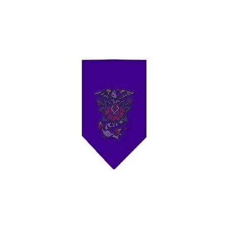 Roses Bandanas - Eagle Rose Rhinestone Bandana Purple Large
