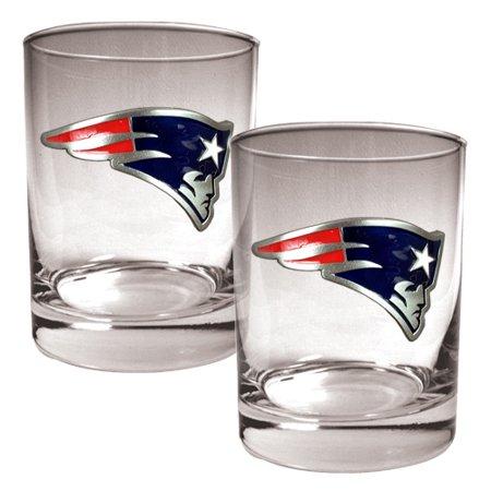 New England Patriots 14oz. Rocks Glass Set - No -