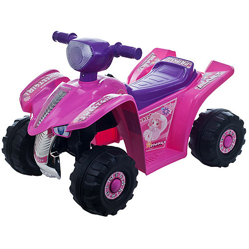 Lil' Rider Girls' Pink Princess Mini Quad 6-Volt Battery-Powered Ride-on Four Wheeler