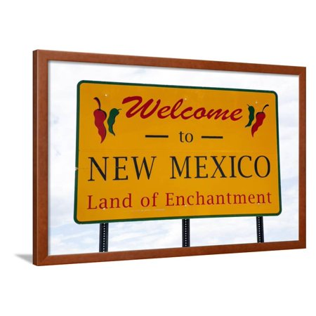 Welcome to New Mexico Framed Print Wall Art By Tim Roberts Photography ()