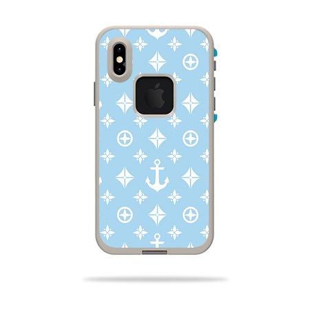 Skin for LifeProof FRE iPhone XS Case - Baby Blue Designer | Protective, Durable, and Unique Vinyl Decal wrap cover | Easy To Apply, Remove, and Change -