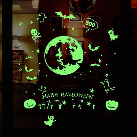 Wall Sticker,Justdolife Glow in the Dark DIY Halloween Witch Design Wall Decal Wall Art Decor