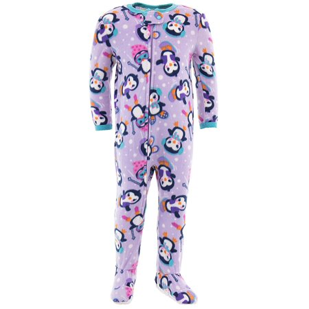 Peas & Carrots Winter Penguin Toddler Girls Blanket Sleeper - Girls Panda Onesie