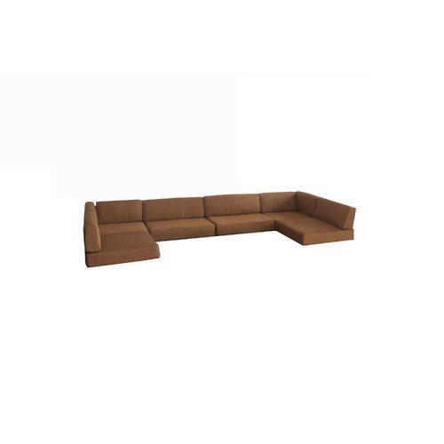 Brayden Studio Rattan Box Cushion Sofa Slipcover by