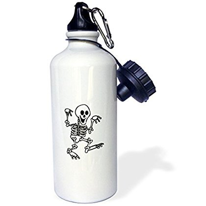 Halloween Walking Hand (3dRose happy skeleton walking hands up halloween , Sports Water Bottle,)