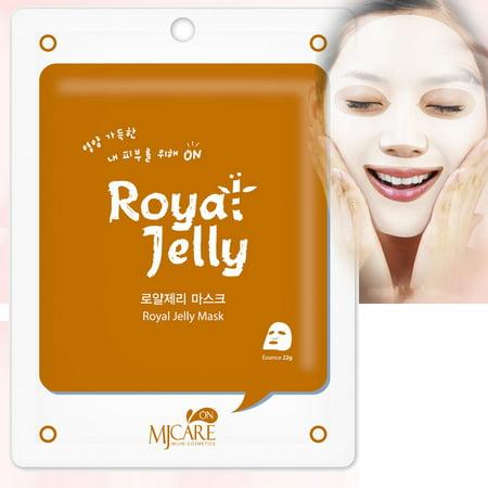 20 Pcs, Hydrating Premium Essence Mask, Korean Beauty Facial Mask Sheet, 45 Value-Pack, Royal Jelly Essence