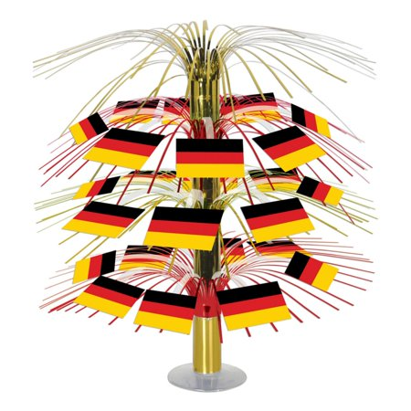 Pack of 6 Colorful Tinsel German Flag Cascading Party Table Centerpieces 18