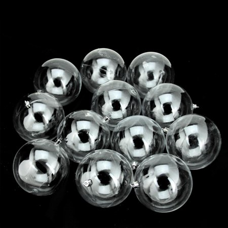 12ct Shatterproof Clear Christmas Ball Ornaments 4