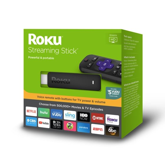 Roku Streaming Stick HD - WITH 30-DAY FREE TRIAL OF SLING