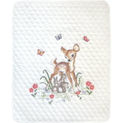 "Janlynn Stamped Quilt Cross Stitch Kit 34""X34""-Baby Deer-Stitched In Floss"