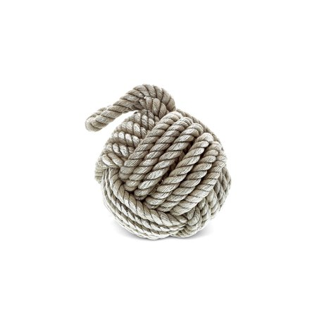 CoTa Global Rustic Grey Sailor Knot Hemp Rope, 5 Inch Decorative Hanging Accent Intricate & Meticulous Detailing String Art Ornament Decoration Nautical Beach Themed Home & Kitchen D?cor