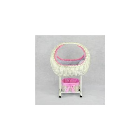 Regal Doll Carriages P705 Megan Wicker Doll Bed Crib Cot