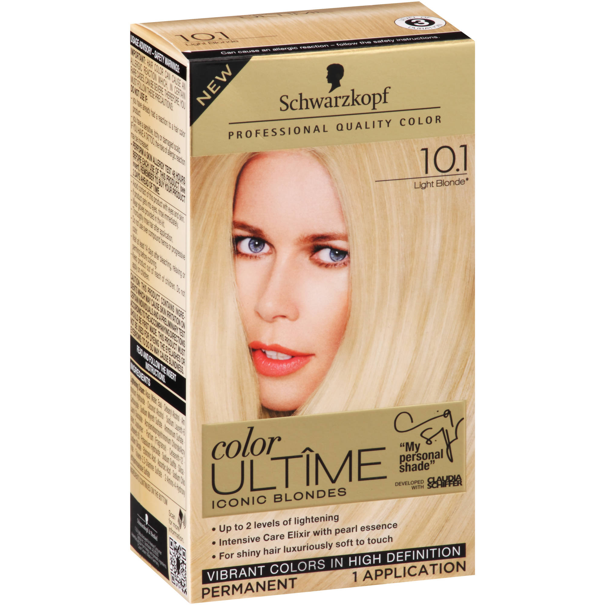 Schwarzkopf Color Ultime Iconic Blondes Hair Coloring Kit, 10.1 Light Blonde