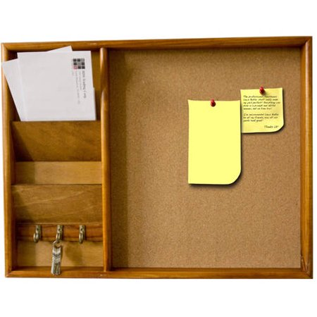 Home Basics Wall-Mounted Wood Bulletin Board, Pine - Wood Bulletin Board Paper