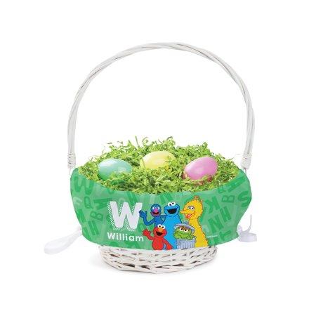 Personalized Sesame Street Kids Easter Basket - Alphabet - Kids Personalized Easter Baskets