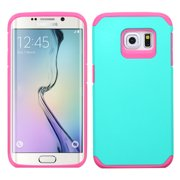 For G925 Galaxy S6 Edge Teal Green/Hot Pink Astronoot Phone Protector Cover