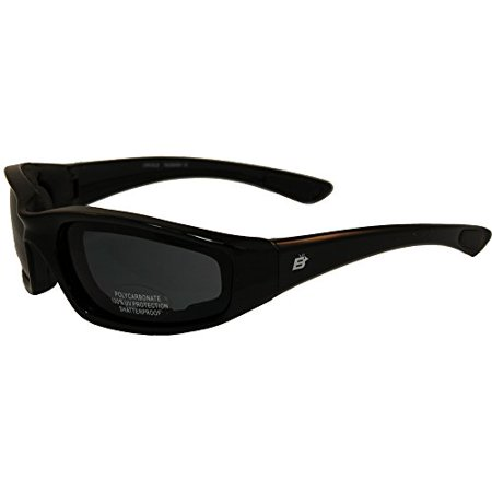Birdz Oriole Motorcycle Padded Glasses Smoked Anti Fog Has Comfortable Foam Padding on the Entire Inside of the Glasses to Fit Snug to Your Face and Protect Against Wind and (Glasses To Fit Your Face)