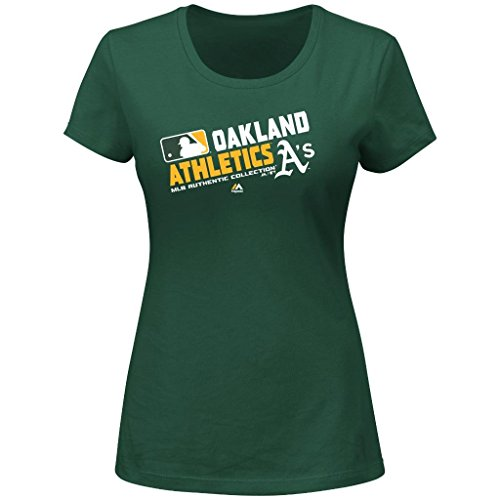 MLB Women's Authentic Collection Team Choice T-Shirt (Large, Oakland Athletics A's)