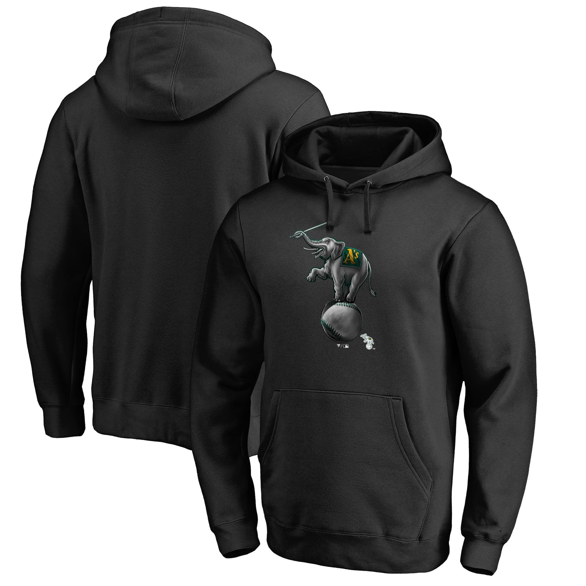 Oakland Athletics Fanatics Branded Big & Tall Midnight Mascot Pullover Hoodie - Black