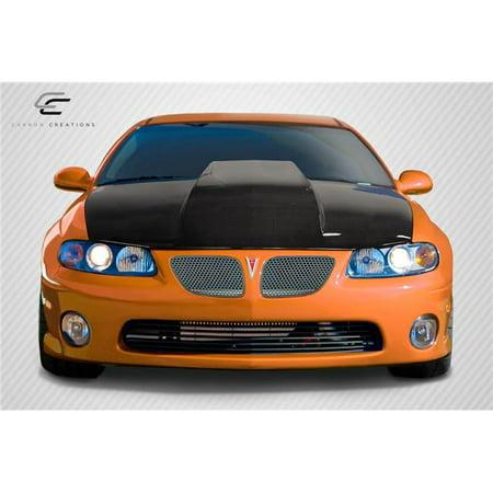 (Carbon Creations 113104 2004-2006 Pontiac GTO Cowl Hood, Signature Black - 1 Piece)