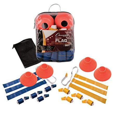 Champion Sports Deluxe Flag Football Equipment Game Set - Flag Football Set