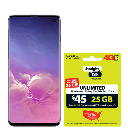 Straight Talk Samsung Galaxy s10+ with $45 Plan Special Offer