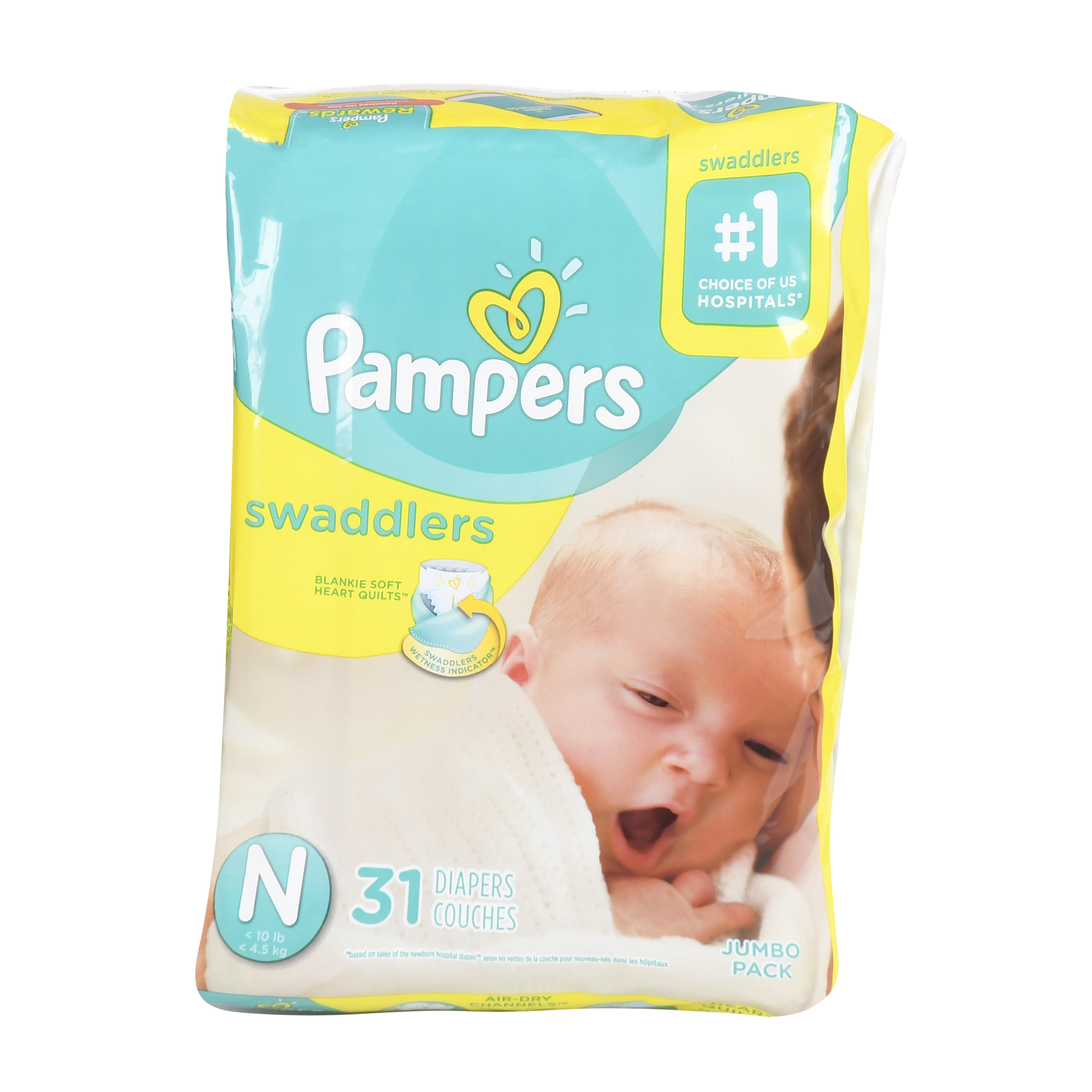Pampers Swaddlers Size 0 Jumbo Pack 31ct