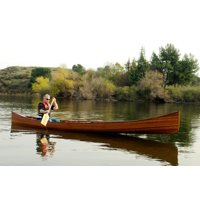 Wooden Canoe with Ribs 18 Boat  Model Display