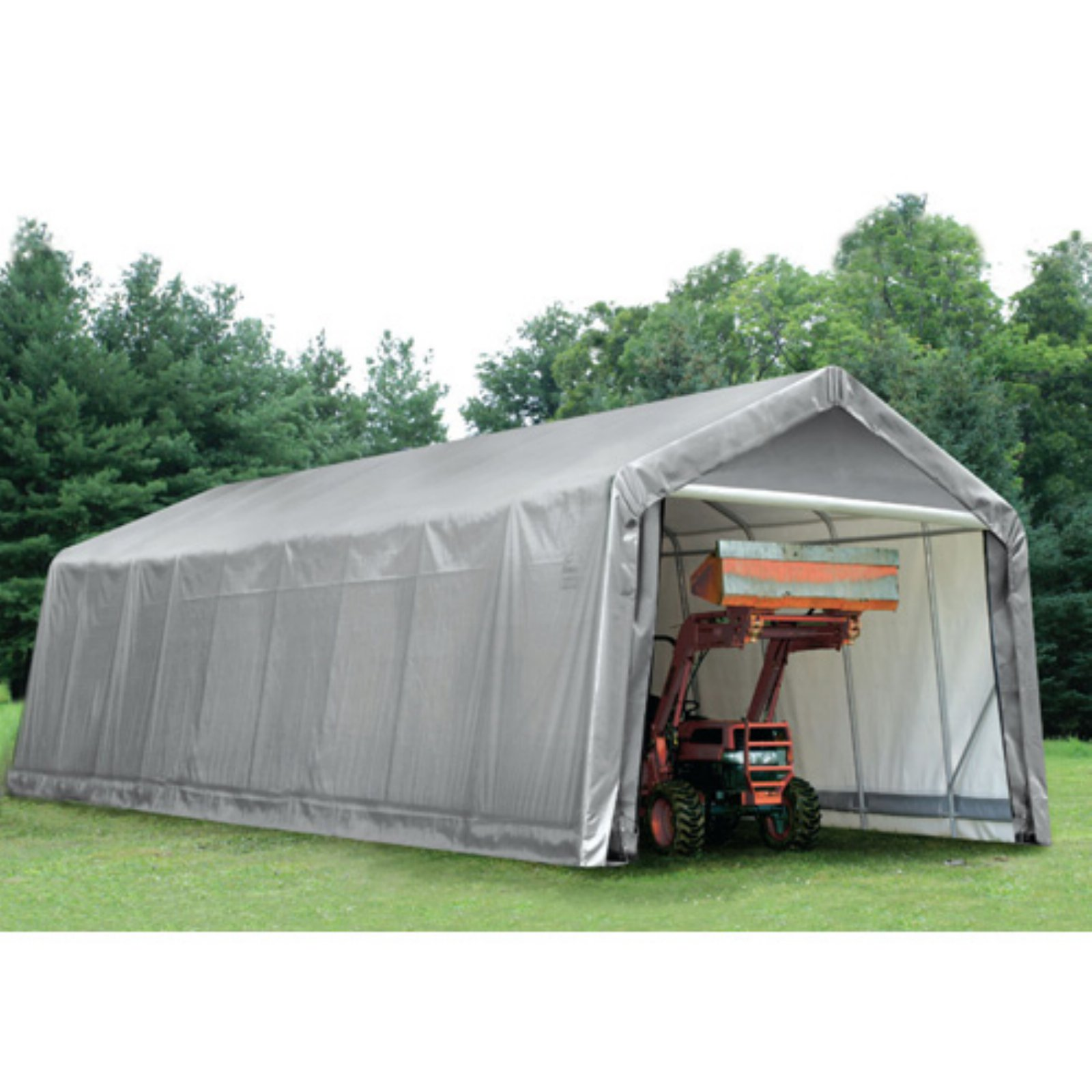 ShelterLogic 14' x 36' x 16' Peak Style Shelter, Gray