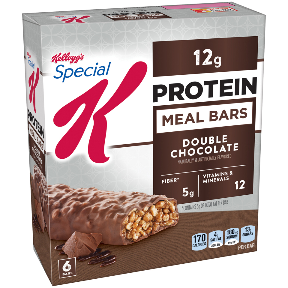Kellogg's Special K Protein Meal Bar, Double Chocolate, 12g Protein, 6 Ct