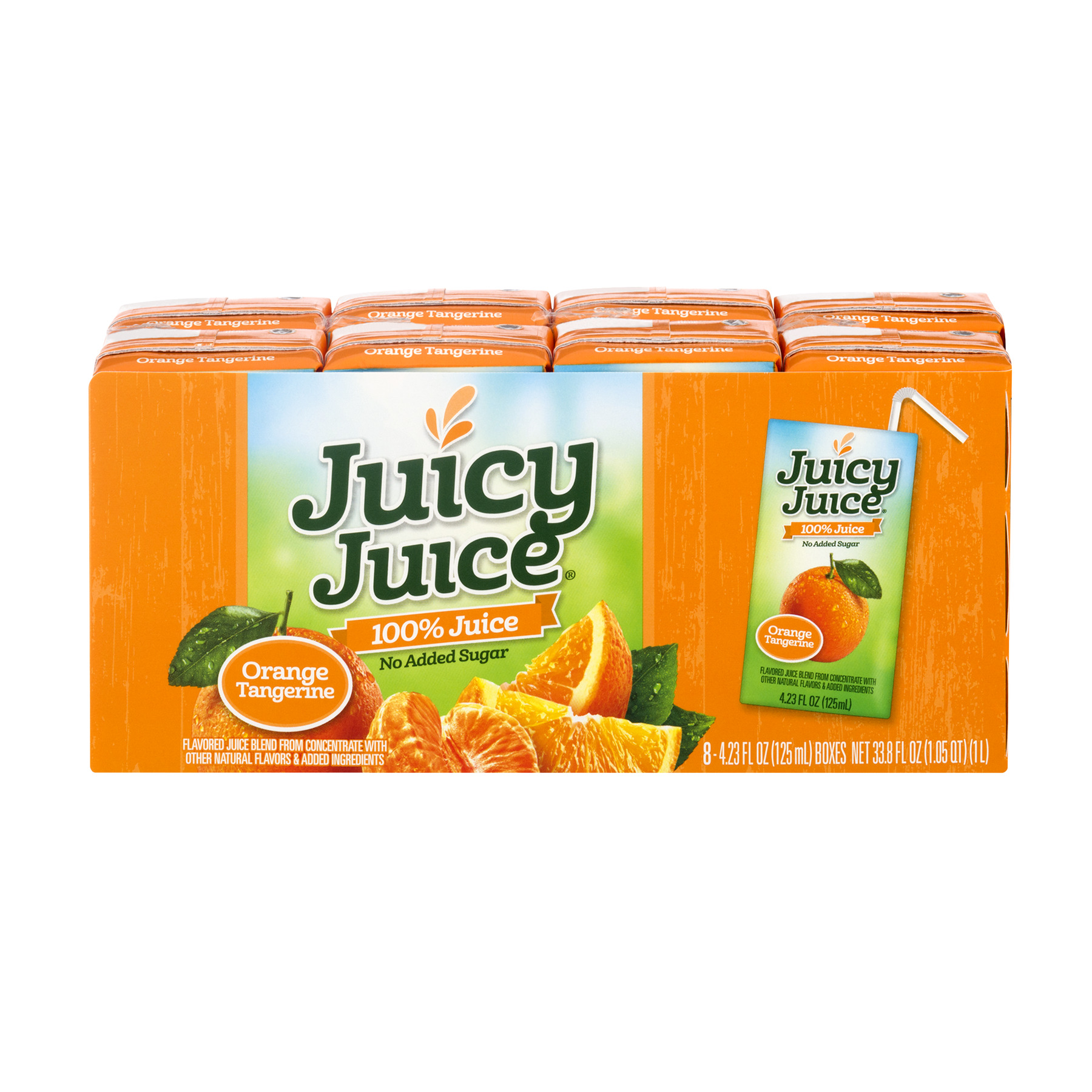 Juicy Juice 100% Juice, Orange Tangerine, 4.23 Fl Oz, 8 Count