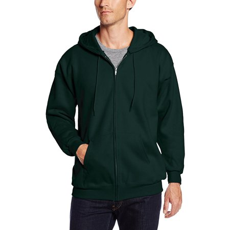10 Ounce Crewneck Sweatshirt - Men's Full Zip Ultimate Heavyweight Fleece Hoodie, Deep Forest, Large, 9.7 ounce, 90 percent cotton/10 percent polyester is plush and durable By Hanes