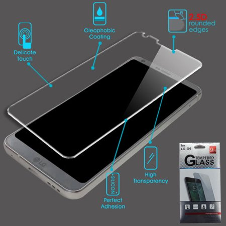 For LG G6 Clear Tempered Glass Screen Protector Film Guard (2.5D)