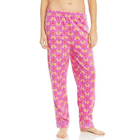 - Leveret Women Fleece Sleep Pants Butterfly Small