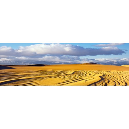 Sand dunes in a desert Great Sand Dunes National Park and Preserve Colorado USA Canvas Art - Panoramic Images (6 x 18)