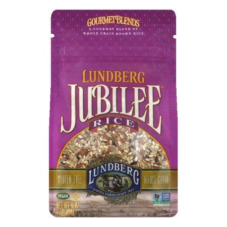 Lundberg Gluten Free Rice Eco-Farmed Jubilee Gourmet Natural Brown Blend, 16 OZ (Pack of 6)