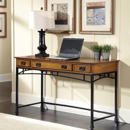 Home Styles Modern Craftsman Executive Desk with Optional Hutch and Mobile File
