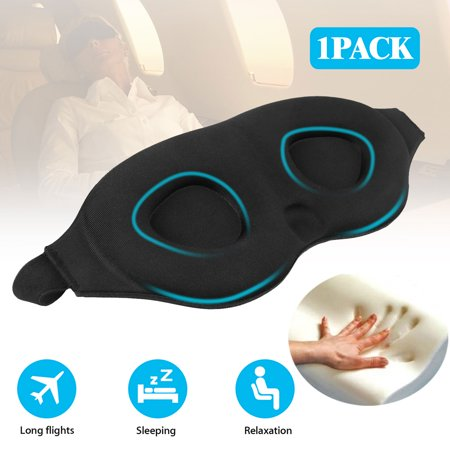 Ergonomic Sleep Mask,3D Light Blocking Sleeping Mask for Women Men, 3D Contoured Super Soft, Comfortable Adjustable Night Eye Mask for Sleeping, Best Blinder Memory Foam Blindfold for