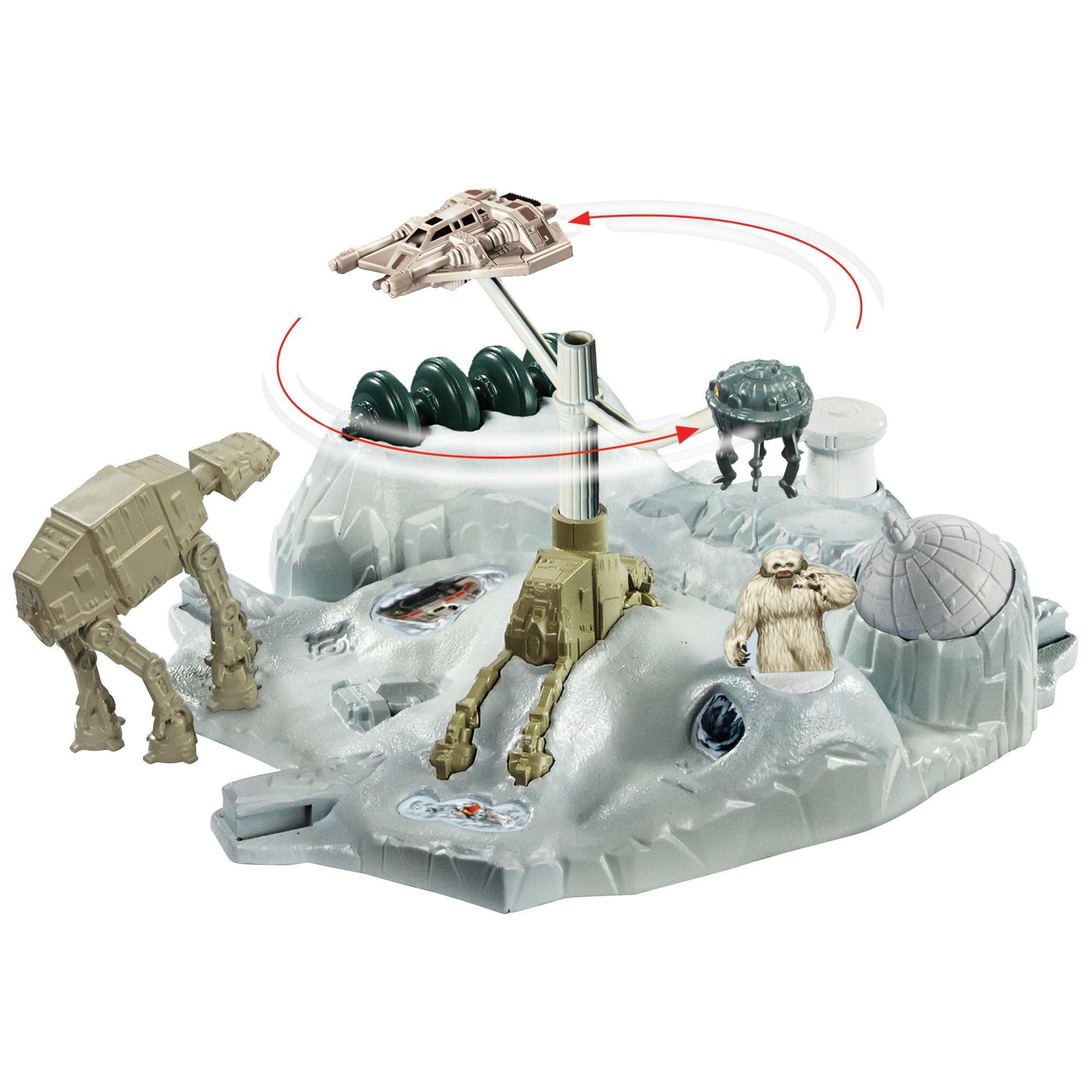 Hot Wheels Star Wars Hoth Echo Base Battle Play Set by Mattel