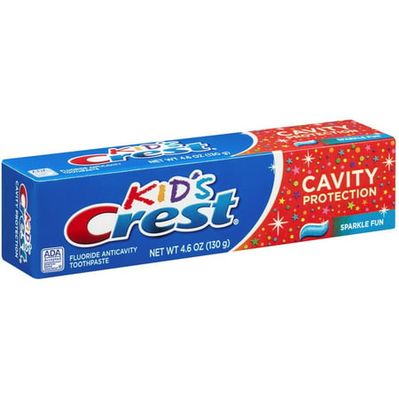 Flavored Toothpaste (Crest Toothpaste Kids' Cavity Protection, Sparkle Fun Flavor 4.60 oz )
