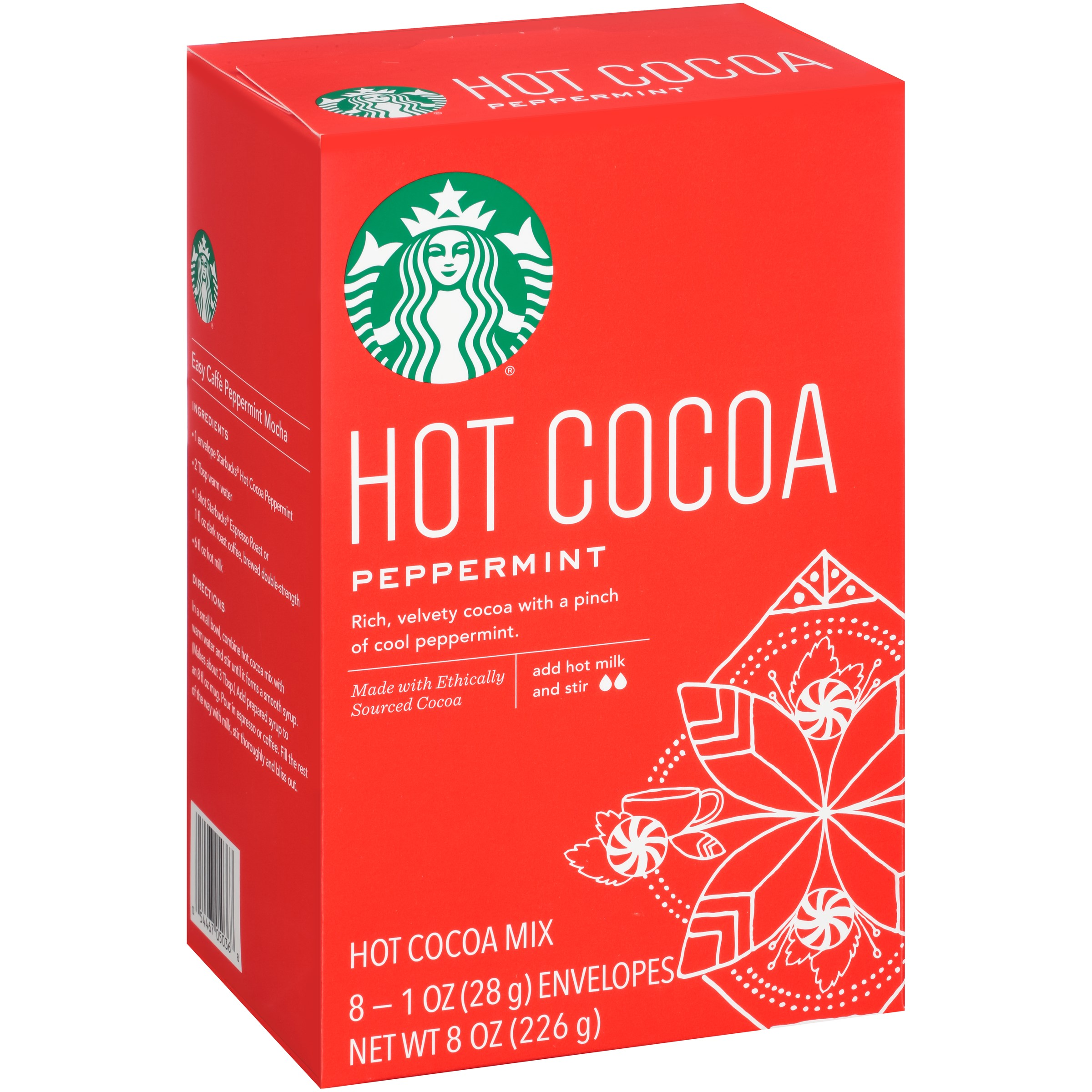 Starbucks Peppermint Hot Cocoa Mix, 8 count